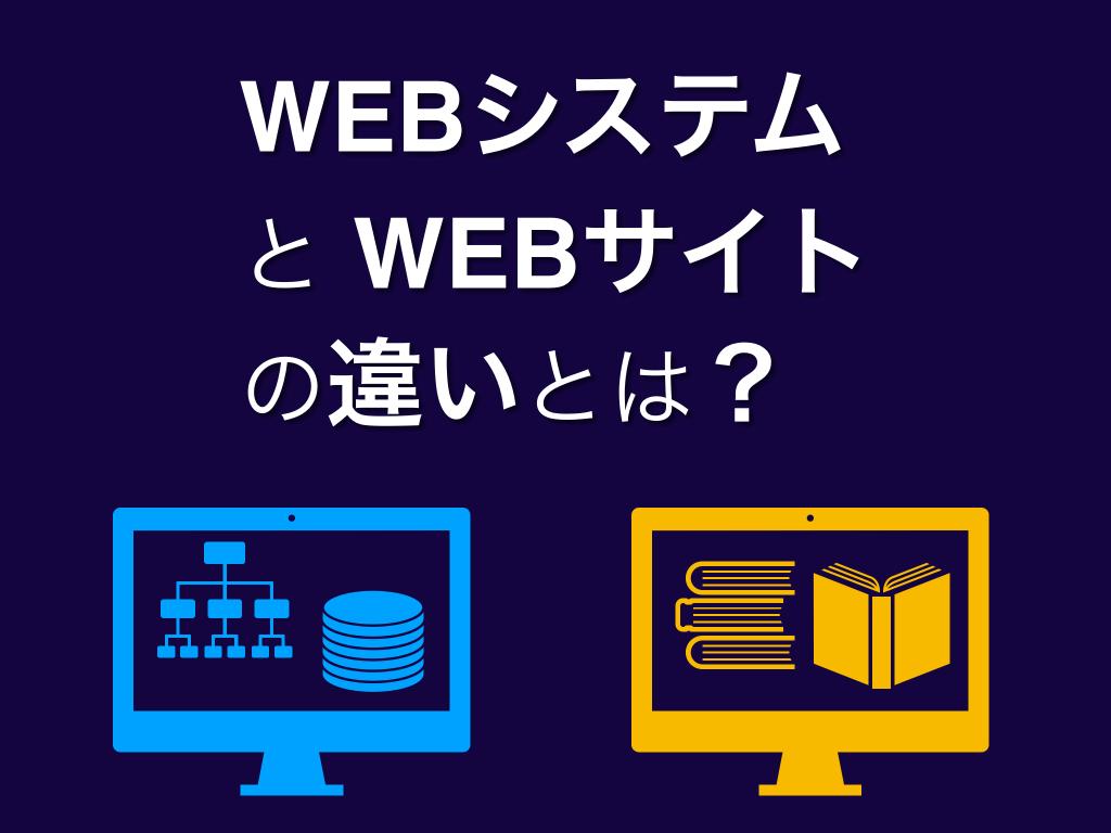 WEBシステムとWEBサイトの違いを初心者向けに解説