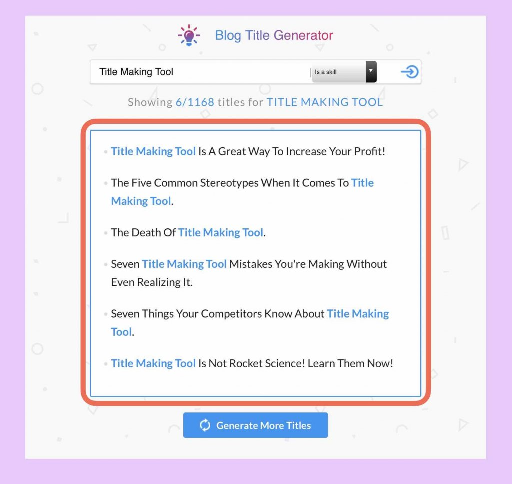 ブログタイトル作成ツール「Blog Title Generator」使い方説明3