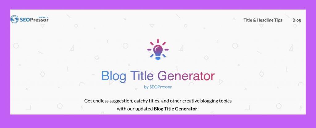 ブログタイトルジェネレーター「Blog Title Generatot」