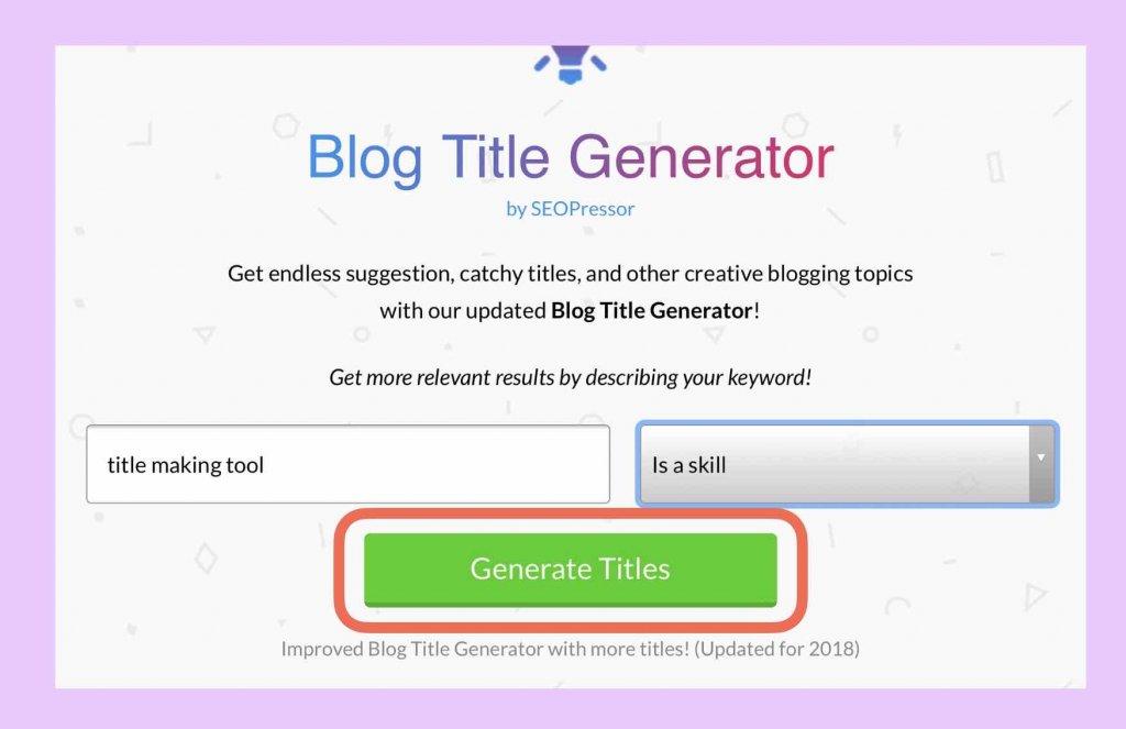 ブログタイトル作成ツール「Blog Title Generator」使い方説明2