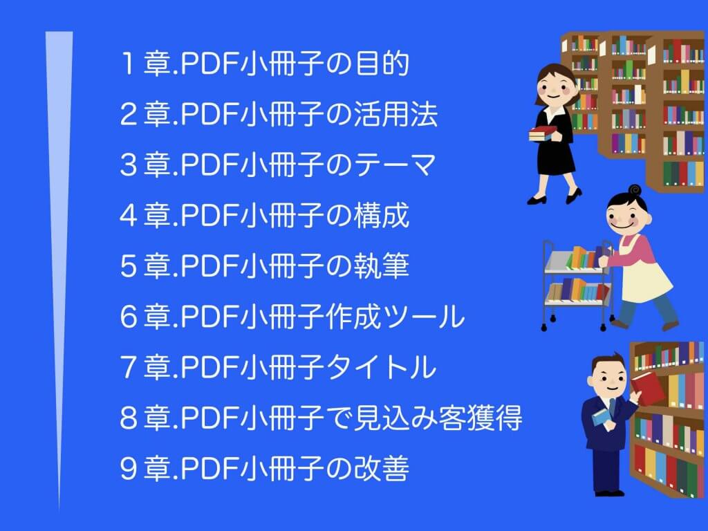 PDF小冊子の作り方ガイドの目次