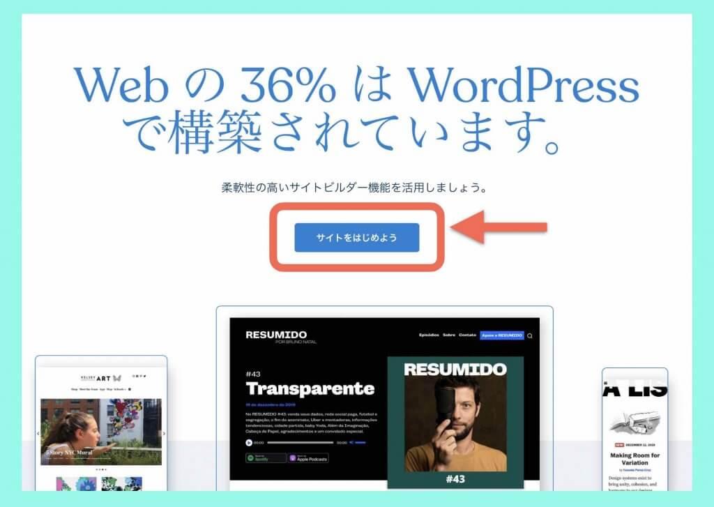 WordPress.comサイト