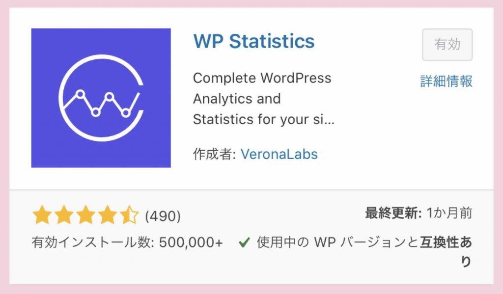 アクセス解析プラグインWP Statisticsのインストールから有効化