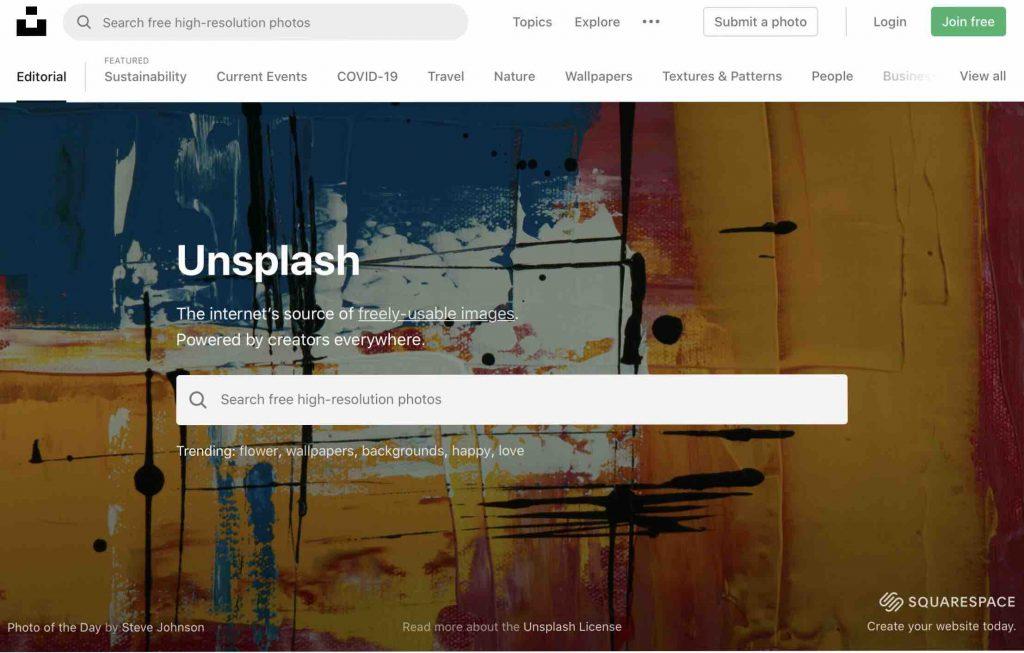フリー画像素材サイト:Unsplash