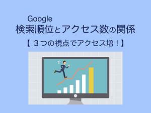 Google検索順位とアクセス数の関係