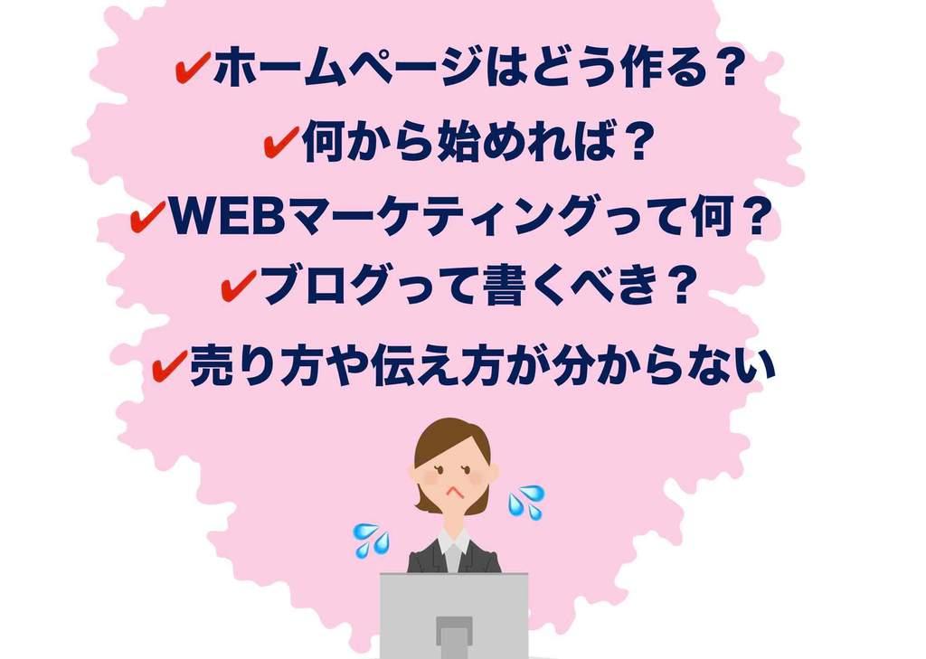 ホームページ集客に関する悩み4
