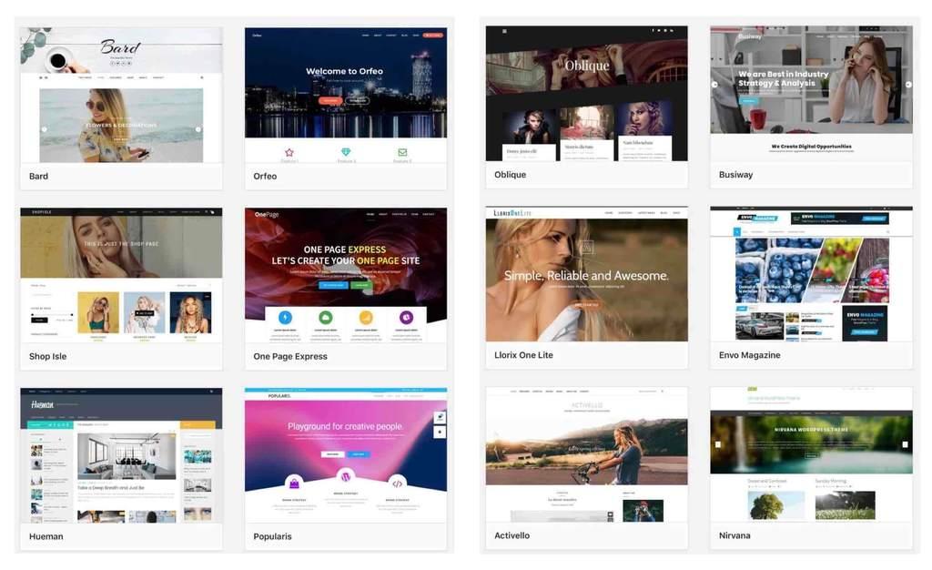 WordPressの無料デザインテンプレート
