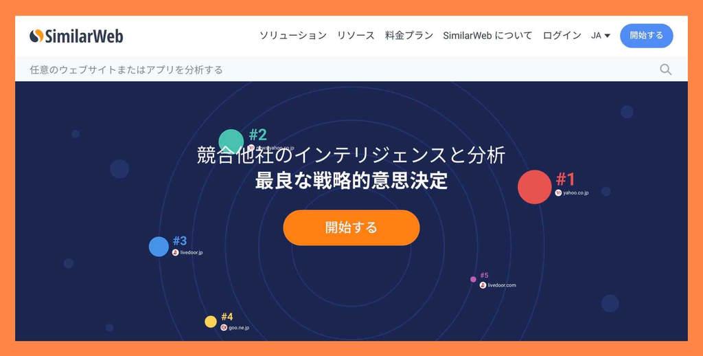 SimilarWebでアクセス数を調べる(SimilarWeb公式サイト)