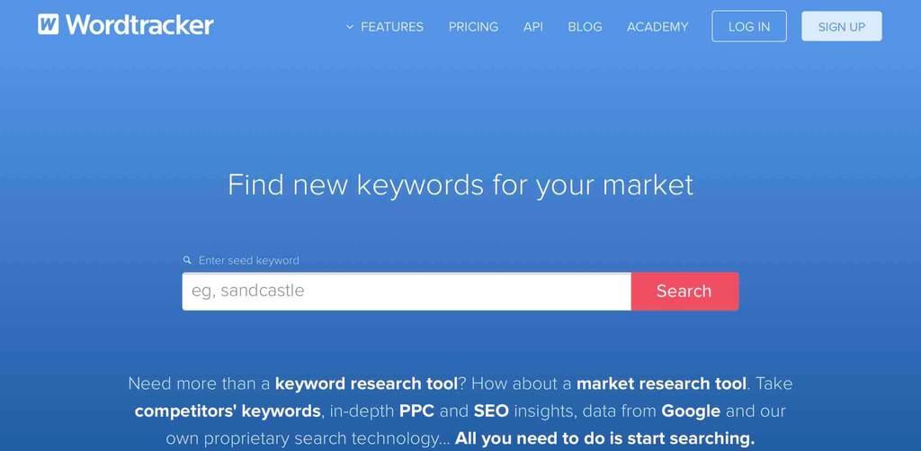その他の検索数調査ツール2「Wordtracker」