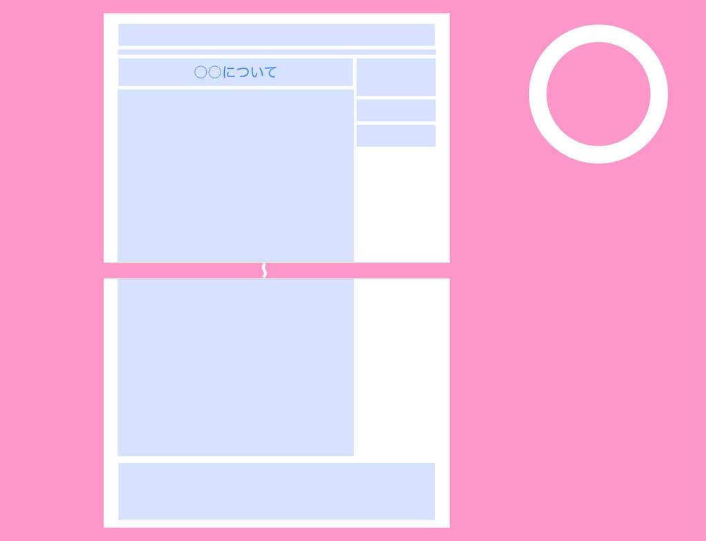 ホームページの1ページを分割しない場合の図例