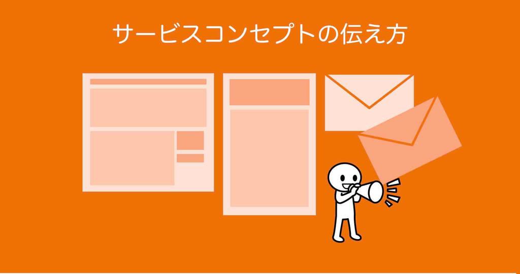 サービスコンセプトの伝え方のイメージ図