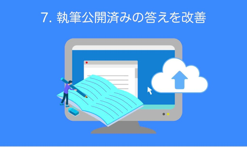 ホームページ集客SEOステップ4「執筆公開済みの答えを改善」